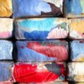 Ветошь постель цветная (КПБ) пестрая лоскут 60*60 см